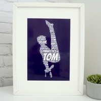 Personalised Male Gymnast Print (1)
