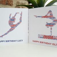 Personalised Gymnast Card