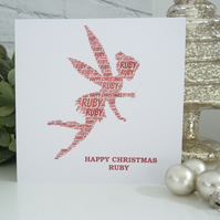 Personalised Fairy Christmas Card