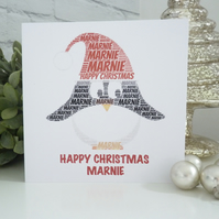 Personalised Penguin Christmas Card