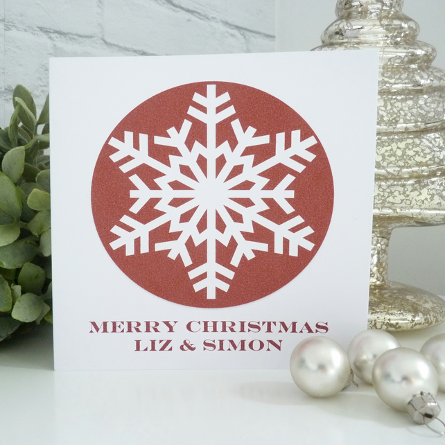 Personalised Snowflake Card