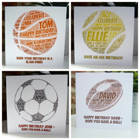 Personalised Sports Birthday Cards