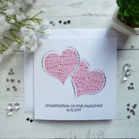 Personalised Engagement, Wedding, Anniversary Card