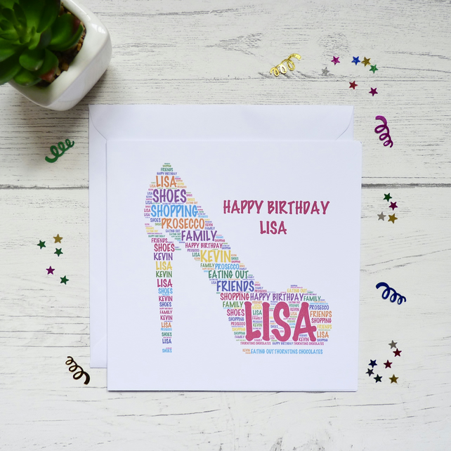 Personalised Stiletto Card