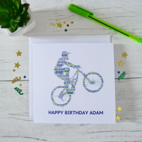 PERSONALISED MOUNTAIN BIKER CARD