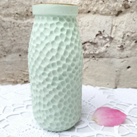 Gold Top Green Milk Bottle
