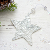 Mother of Pearl Christmas Star
