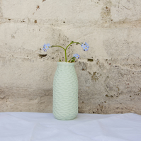 Mint Green Milk Bottle Vase MADE TO ORDER