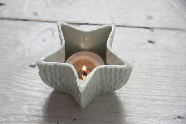 Blue Star Tealight Holder - MADE TO ORDER