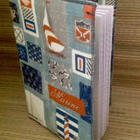 Maritime themed covered A5 Notebook
