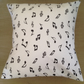 Musical note cushion