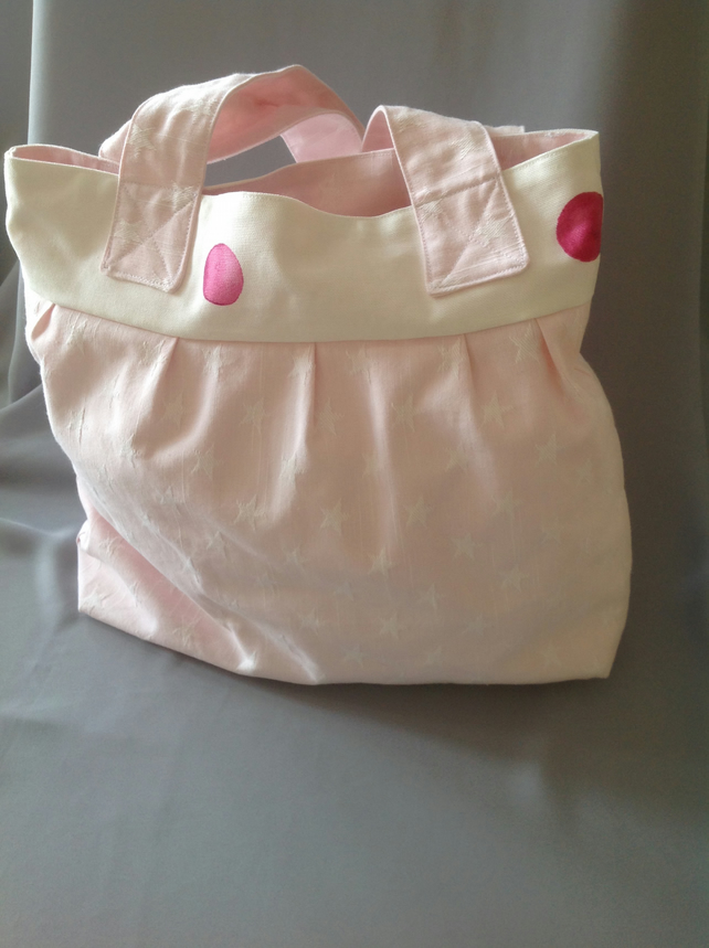 Stars and Pink Spot Tote