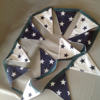Blue and white star bunting