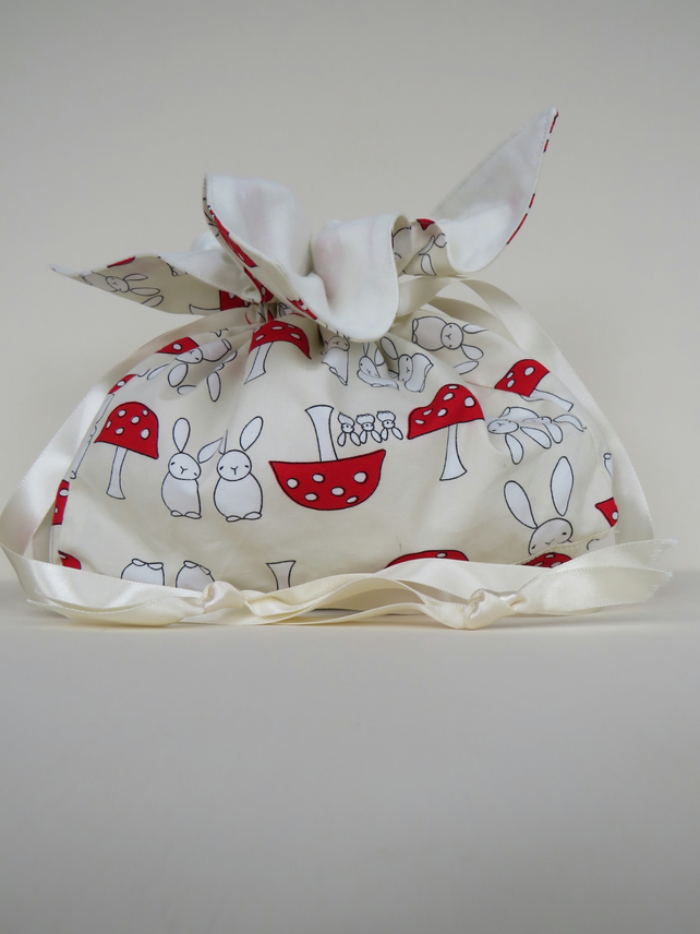 Drawstring accessories, storage bag, Japanese petal style