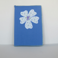Flower and bead Appliquéd  covered A5 notebook