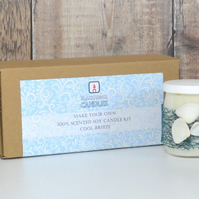Beginners 100% Soy Candle kit - Blackadder Candles - Cool Breeze