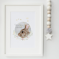 Rabbit Illustration Print - Lepus