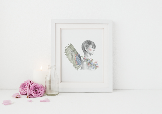 Angel Illustration Print - Orifiel