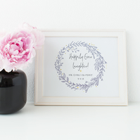 Personalised Wedding Print - Happily Ever Laughter!