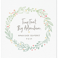Personalised New Baby Print - Tiny Feet