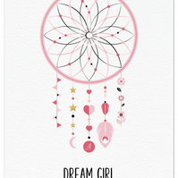 Personalised Nursery Print - Dream Girl