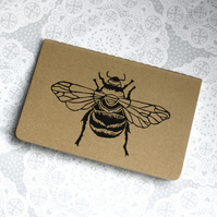 Bumble bee print notebook, honey bee, Insect, Moleskine Cahier Journal, Lined.