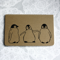 Penguin trio print notebook, Moleskine Cahier Journal, Lined pages