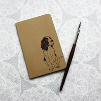 Springer spaniel print notebook, Moleskine Cahier Journal, Lined pages