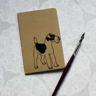 Terrier print notebook, Dog print, Moleskine Cahier Journal, Lined pages