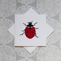 Ladybird print Greetings card