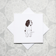 Springer Spaniel print Greetings card