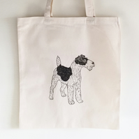 Wire fox terrier cotton Tote bag