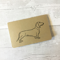 Dachshund dog print small notebook