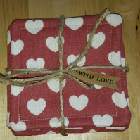 Fabric Coasters - Set of 4