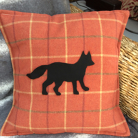Cushion cover. Terracotta Balmoral check. Choice of 3 designs.
