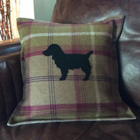 "Dog Breed Cushion Cover.  Any breed. Made to fit 18"" infill."