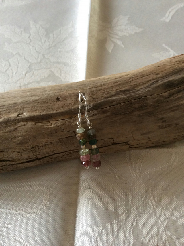 Handcrafted Sterling Silver and Multicoloured Tourmaline.