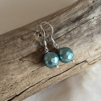 Handcrafted Sterling Silver Shell Pearl Earrings
