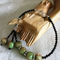 Handcrafted Murano & Black Spinel Set