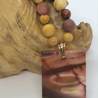 Handcrafted Mookaite Necklace