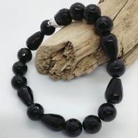 Handcrafted Black Spinel Bracelet