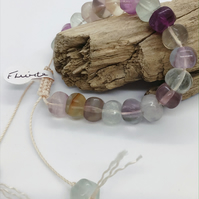 Handcrafted Fluorite Adjustable Bracelet