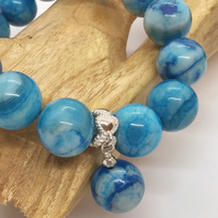 Handcrafted Blue Crazy Lace Agate Bracelet