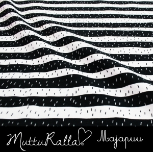 ON SALE - Black stripes organic jersey fabric by Majapuu Designs (half metre)