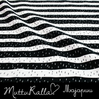SALE - Black stripes organic jersey fabric by Majapuu Designs (half metre)
