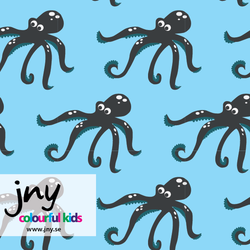 Octopus organic jersey fabric by JNY Colourful Kids (half metre)