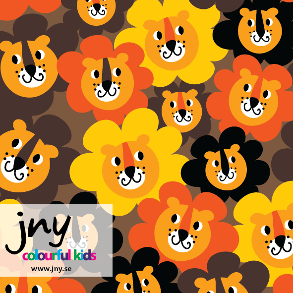 Lionflower organic jersey fabric by JNY Colourful Kids (half metre)