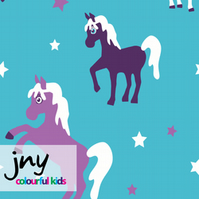 Star Horse organic jersey fabric by JNY Colourful Kids (half metre)