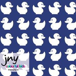 SALE - Blue ducks organic jersey fabric by JNY Colourful Kids (half metre)