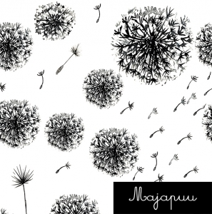 Sweet Dandelion jersey fabric by Majapuu Designs (half metre)